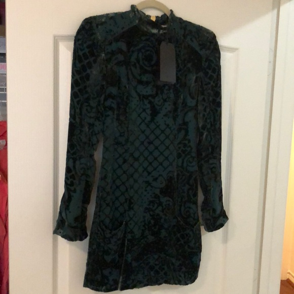 7948e64b4f348 Balmain Dresses | X Hm Green Velvet Mini Dress With Tags | Poshmark
